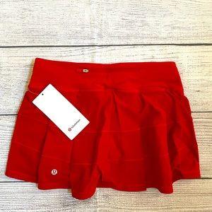 NWT Lululemon Pace Rival TENNIS Skirt DARK RED Regular Length Size 4